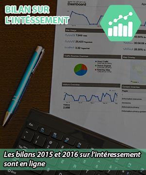Bilan sur l'intéressement 2015 et 2016