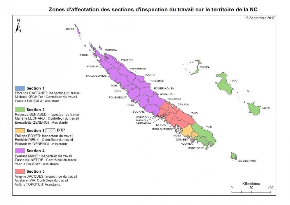 Zones d'affectation - Nouvelle Calédonie
